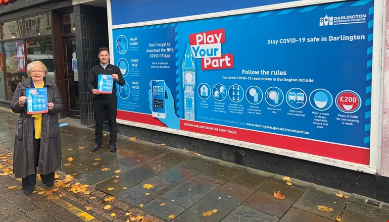 Covid safety messages rolled out across Darlington